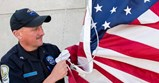 VADOC Corrections Officer Raises an American Flag